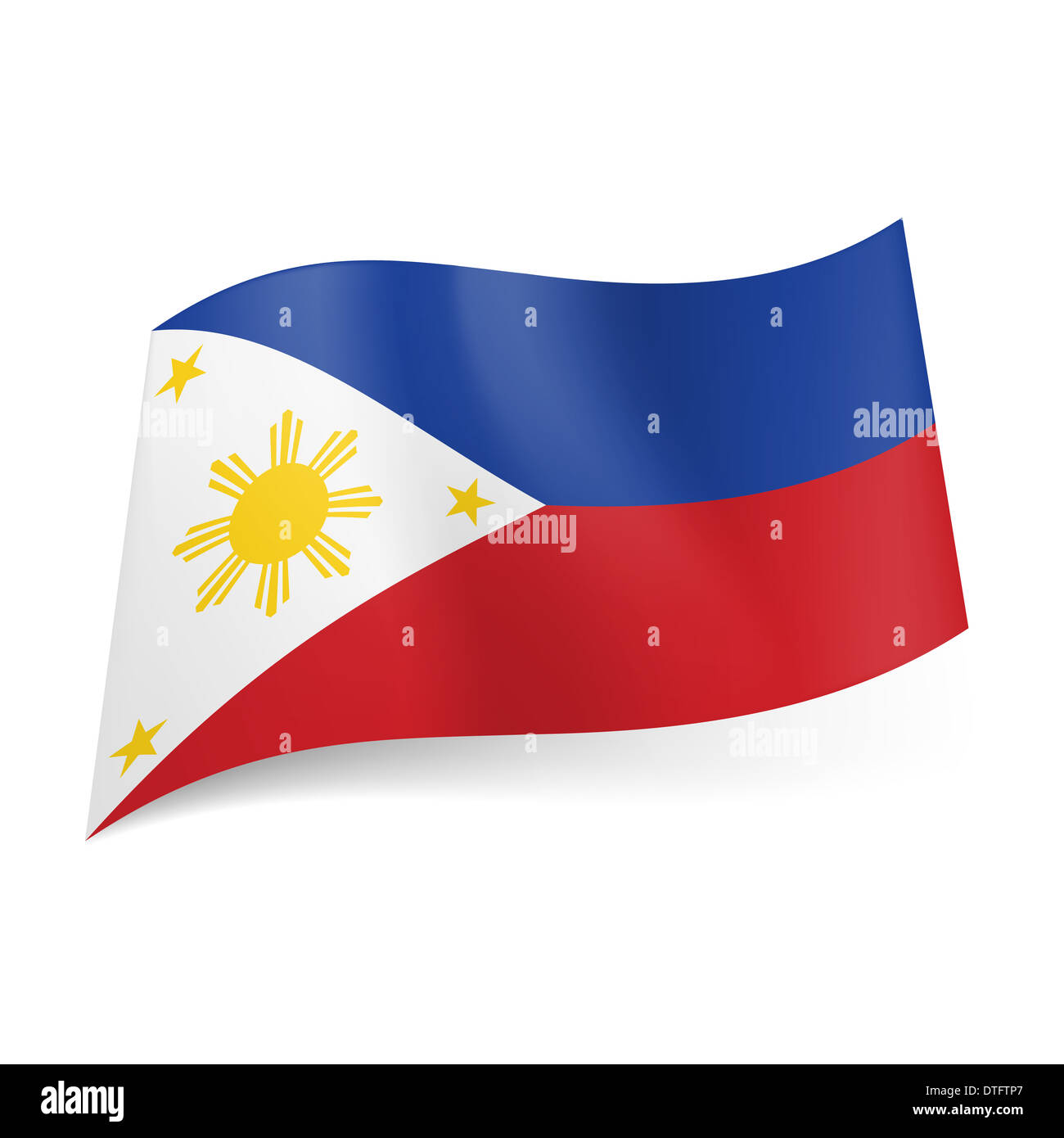 National flag of Philippines: blue and red horizontal ... - photo#12