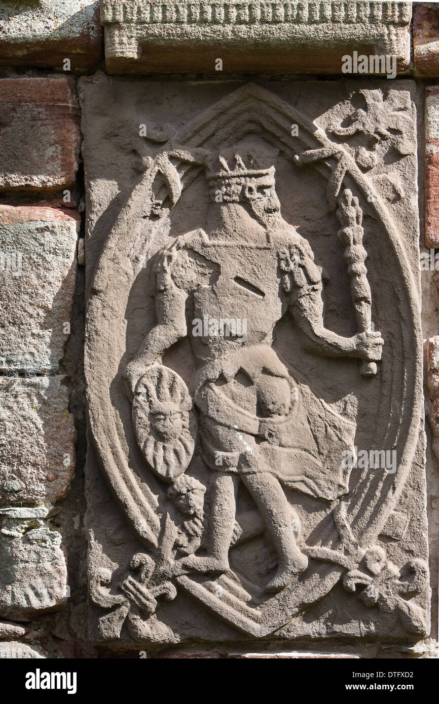 sol sun god plaque at edzell castle in angus scotland. Black Bedroom Furniture Sets. Home Design Ideas