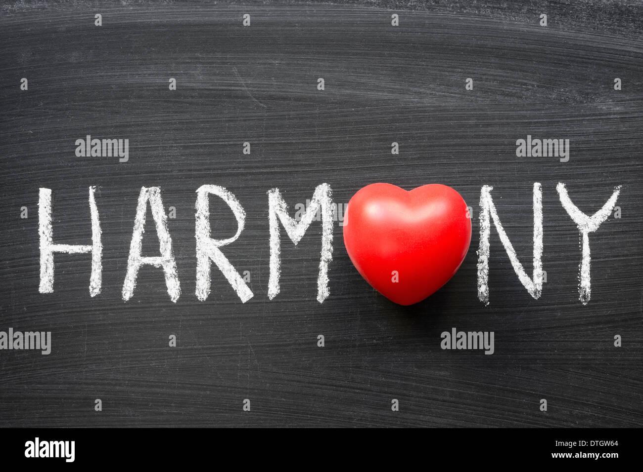 Harmony word handwritten on blackboard with heart symbol instead o harmony word handwritten on blackboard with heart symbol instead o biocorpaavc