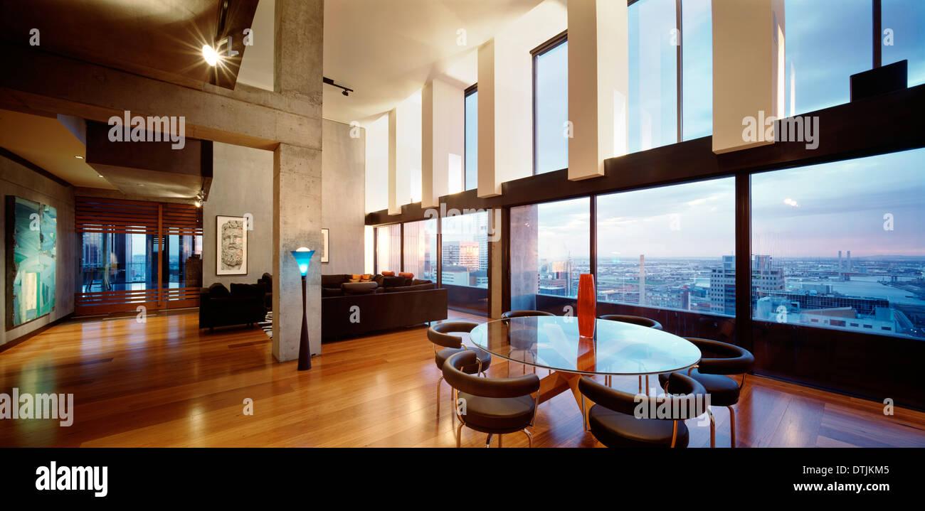 Luxury Apartment Interior - Luxury apartment interior at the republic tower melbourne australia architect fender katsalidis 2002