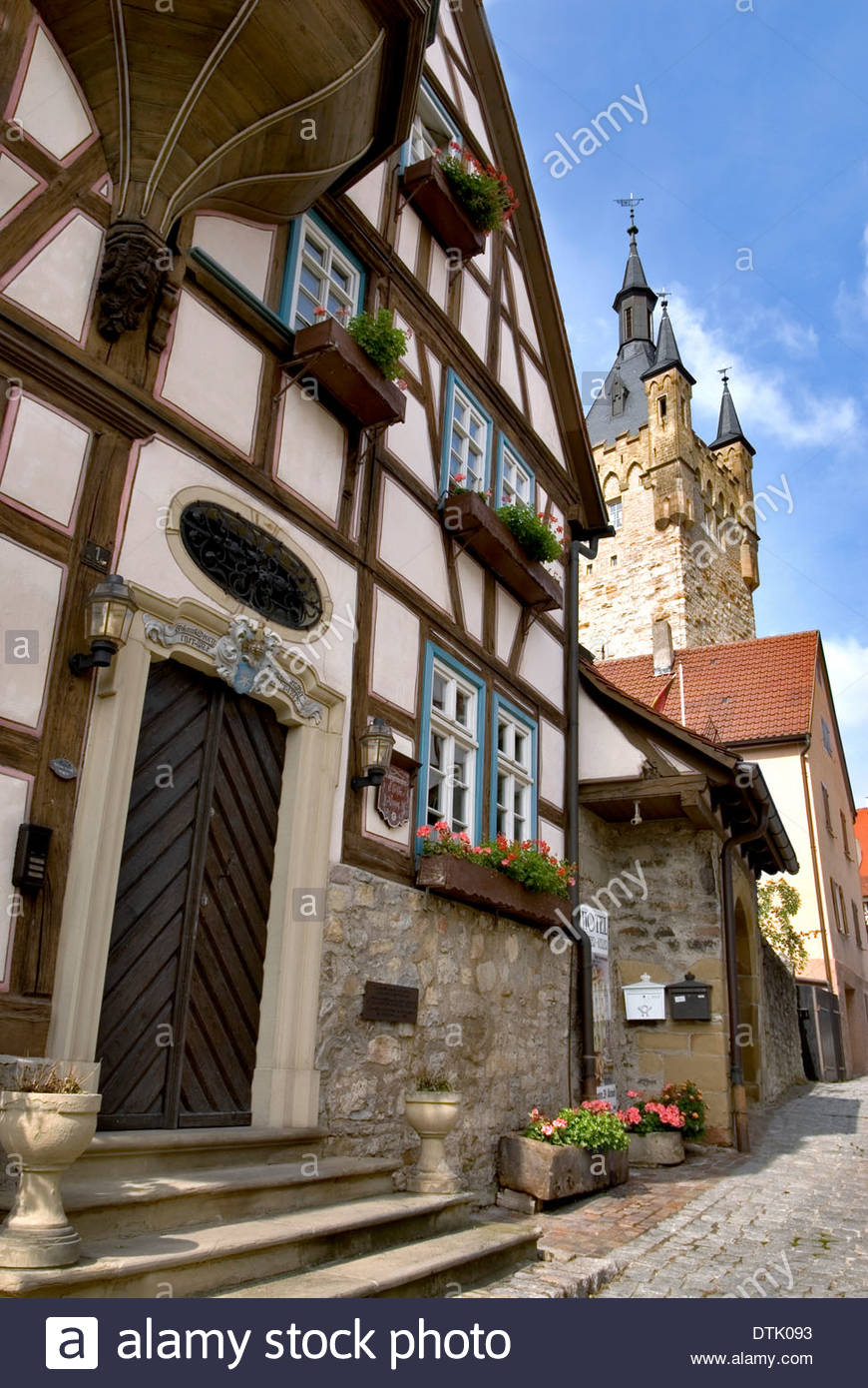 timber frame houses in the medieval town of bad wimpfen in baden stock photo royalty free image. Black Bedroom Furniture Sets. Home Design Ideas