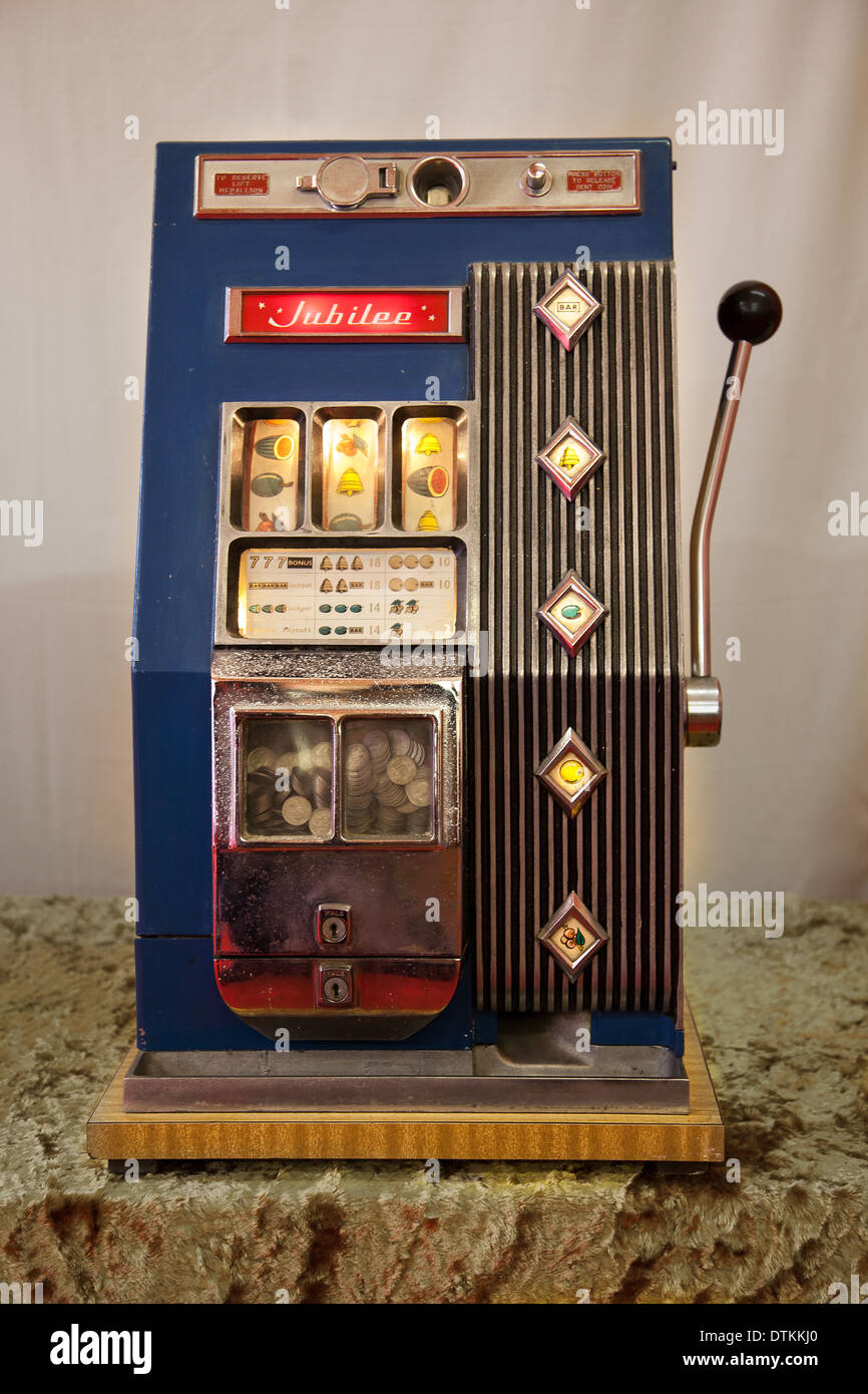 antique slot machine stands
