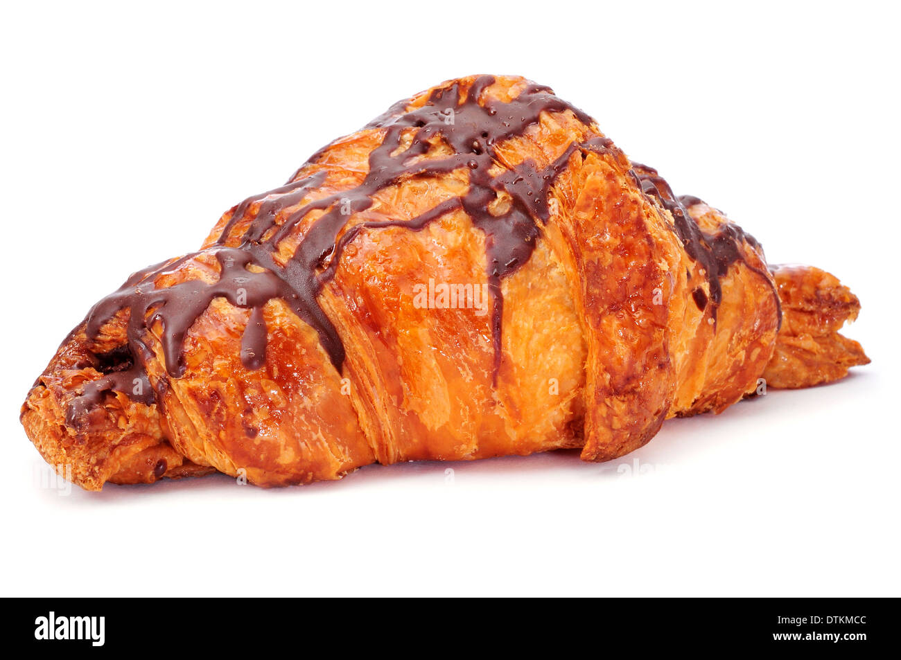 a chocolate croissant on a white background Stock Photo, Royalty ...