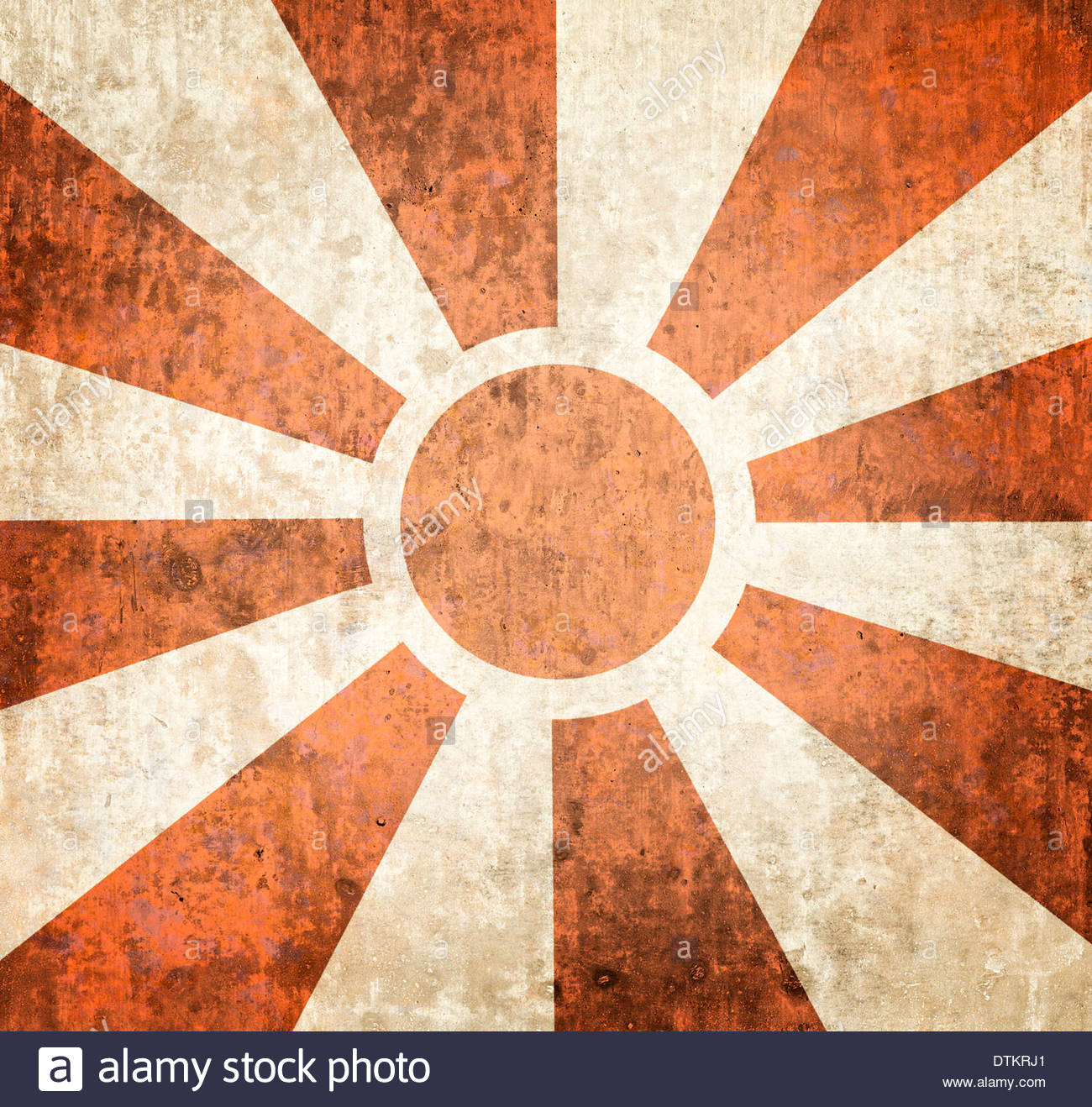 Stock Photo Vintage Poster Design Background Of Multiple Orange Sunbeams On Grunge 66818473 on retro wall art