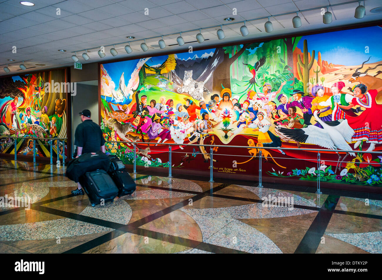Colorful Mural Titled In Peace Harmony With Nature By Leo Tanguma