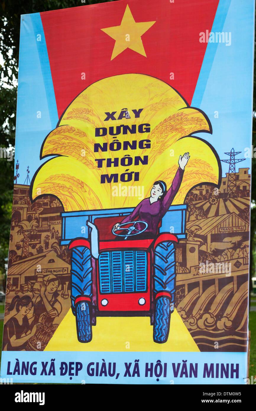 Propaganda poster, Ho Chi Minh City, Vietnam Stock Photo ...
