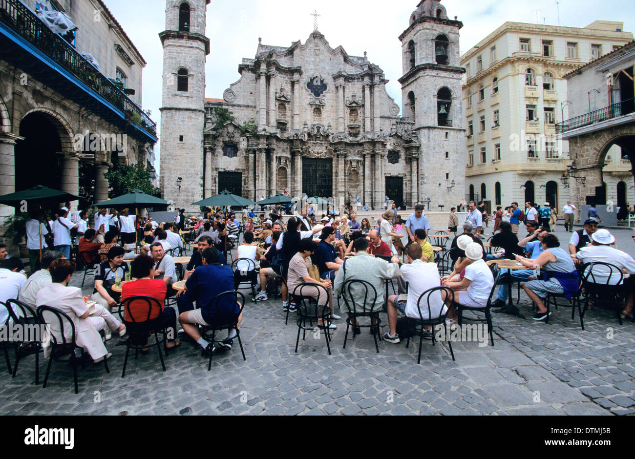 El Patio Restaurant In Plaza De La Catedral Is The Most Popular Gathering  Spot In Habana Vieja, The Old City, Cuba