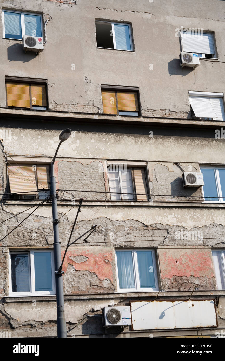 air conditioning units for apartments. apartment windows with shutters and air conditioning units in belgrade for apartments y