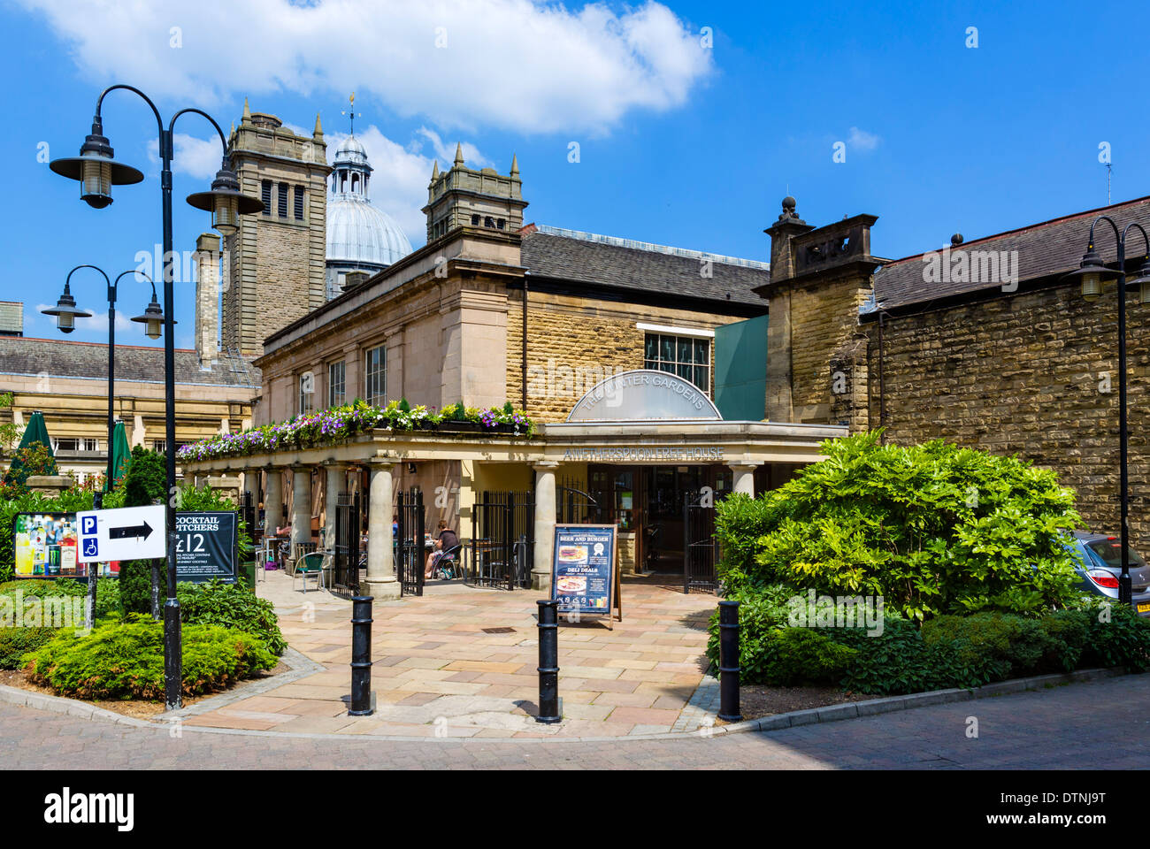 rear entrance to the winter gardens now a wetherspoons pub stock