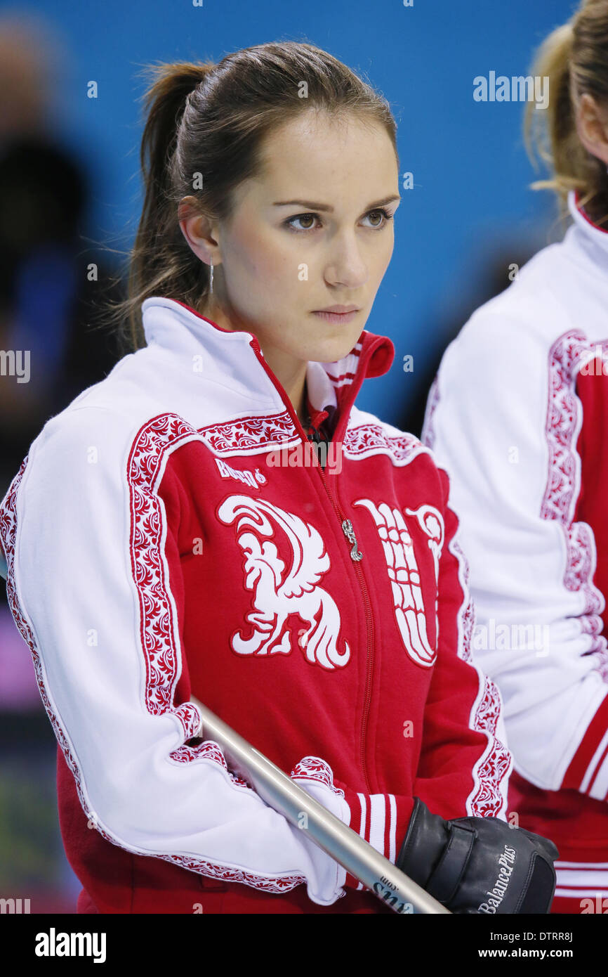 Sochi, Russia. 17th Feb, 2014. Anna Sidorova (RUS) Curling ...