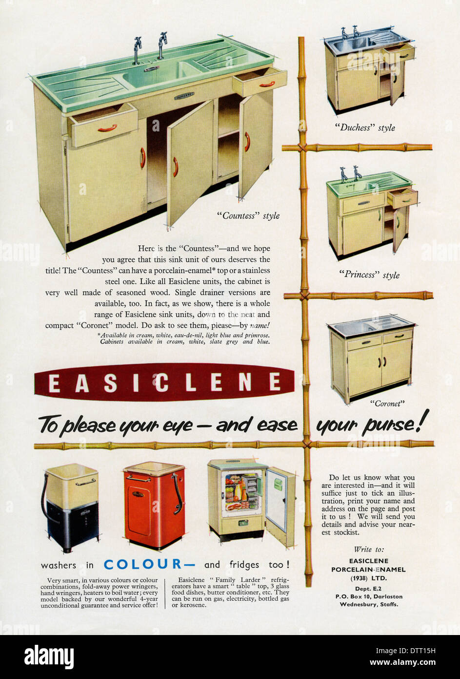 Kitchen Sink Appliances for sale 16 kitchen sink appliances on hidden small appliances home design ideas pictures Old Advert For Easiclene Easy Clean Kitchen Sink Units And Appliances The Advert