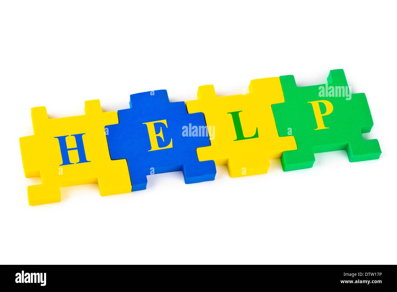 Puzzle Help Stock Photo, Royalty Free Image: 66932650 - Alamy