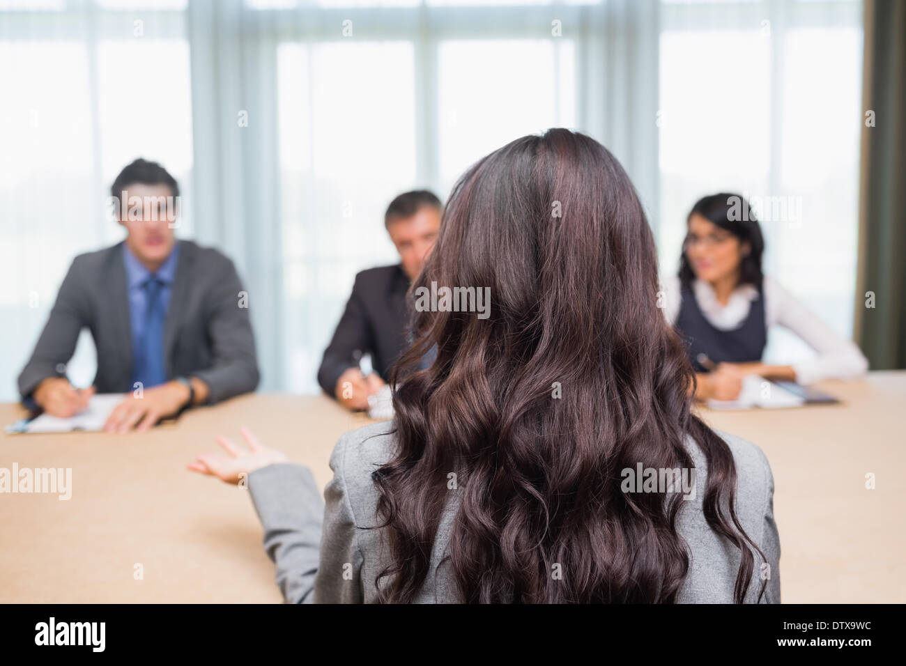 interviewee talking to the panel stock photo royalty image interviewee talking to the panel