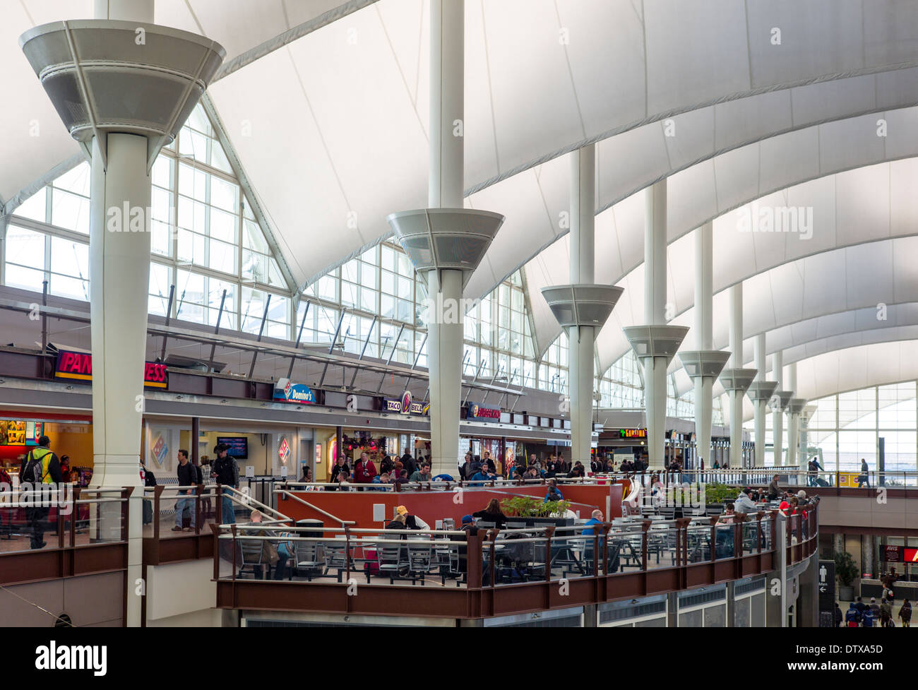 Jeppesen Terminal Denver International Airport Colorado USA. Canopy roof design by Fentress & Roof Canopy Stock Photos u0026 Roof Canopy Stock Images - Alamy memphite.com