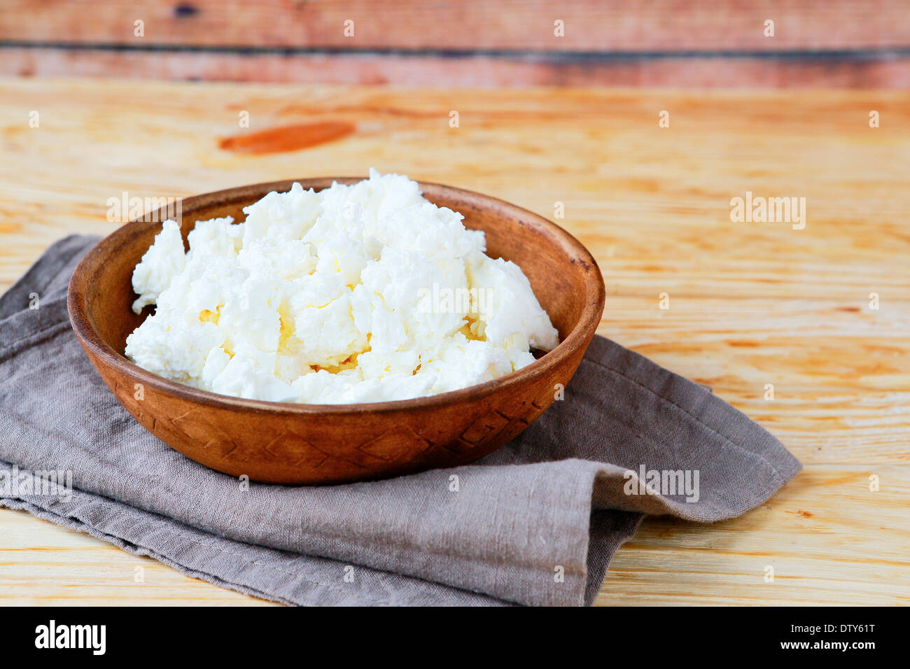 cottage cheese in a bowl, food closeup Stock Photo ...