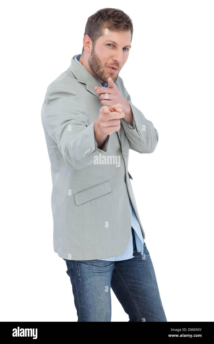 Trendy model posing wearing a blazer Stock Photo, Royalty Free ...