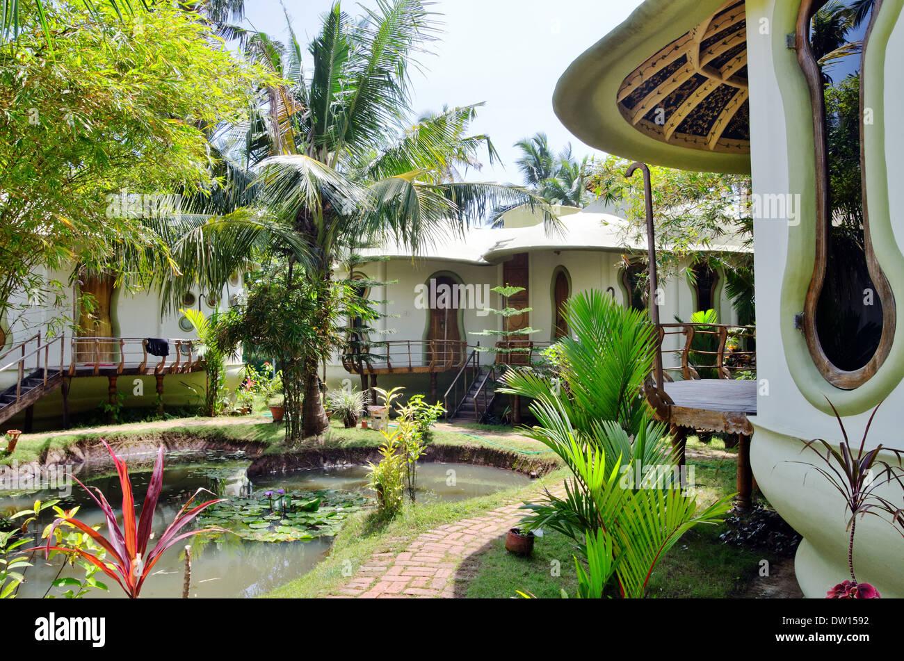 Eden garden a tourist resort in varkala kerala india for Garden house in india