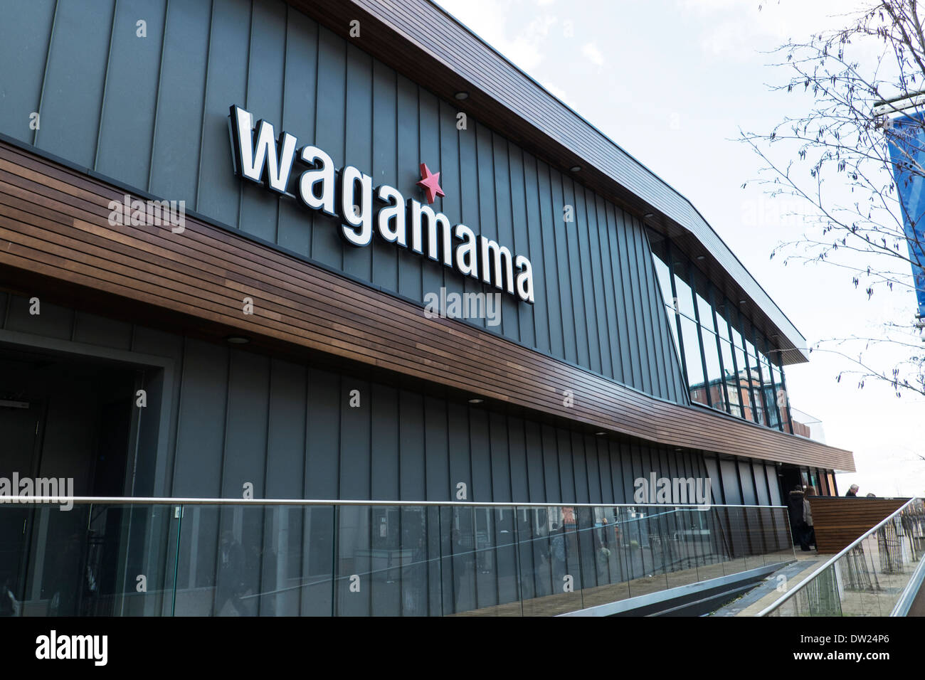 Restaurant Facade wagamama japanese restaurant sign building exterior facade outside