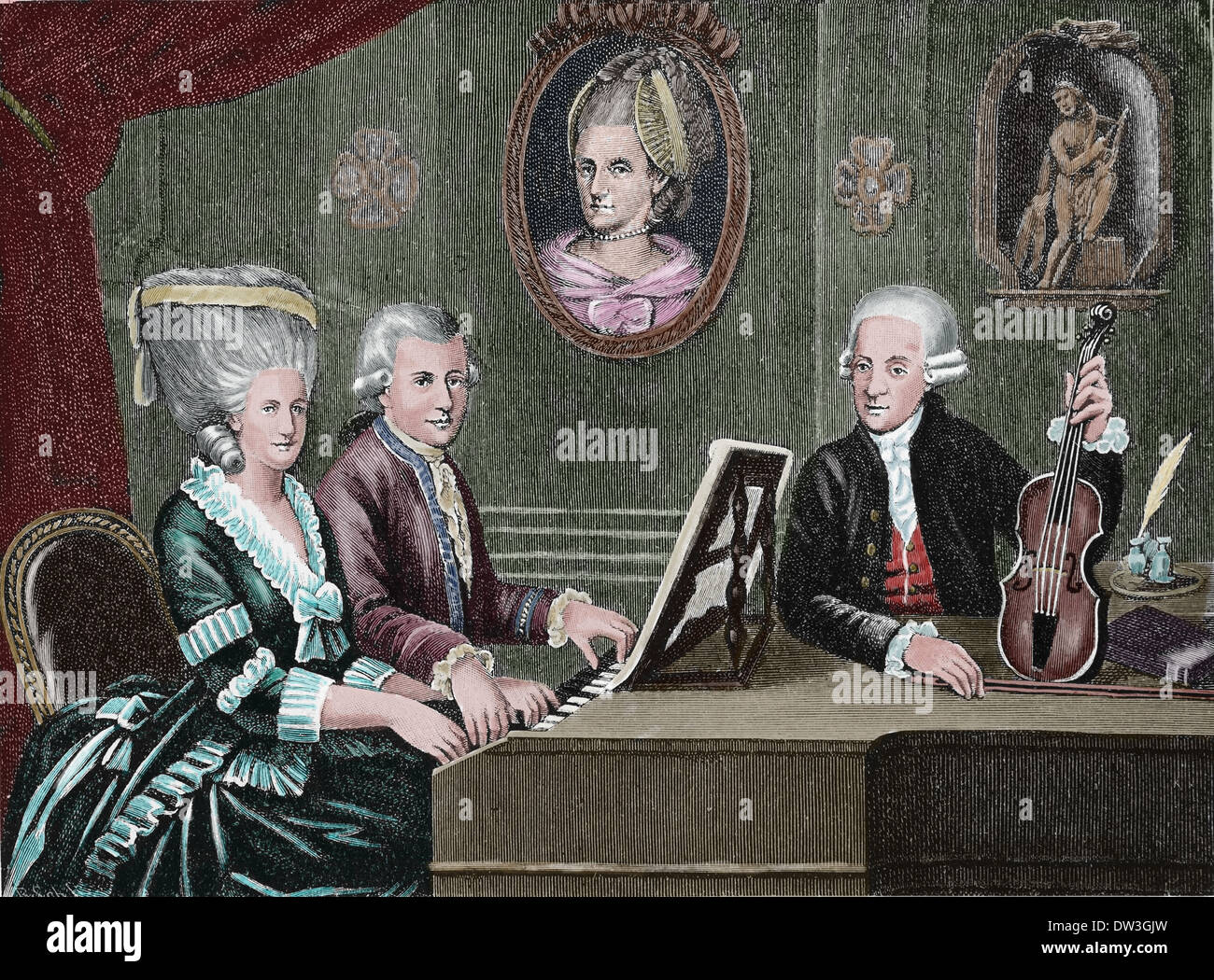 Wolfgang Amadeus Mozart (1756-1791). Composer of the ...