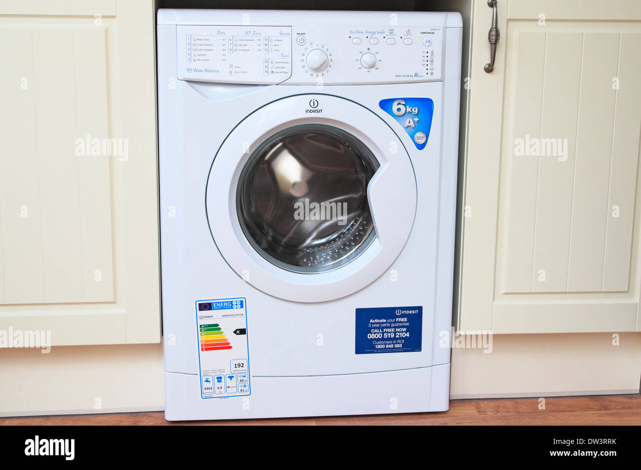 Kitchen Setting Brand New Indesit Electric Front Loading Washing Machine In A