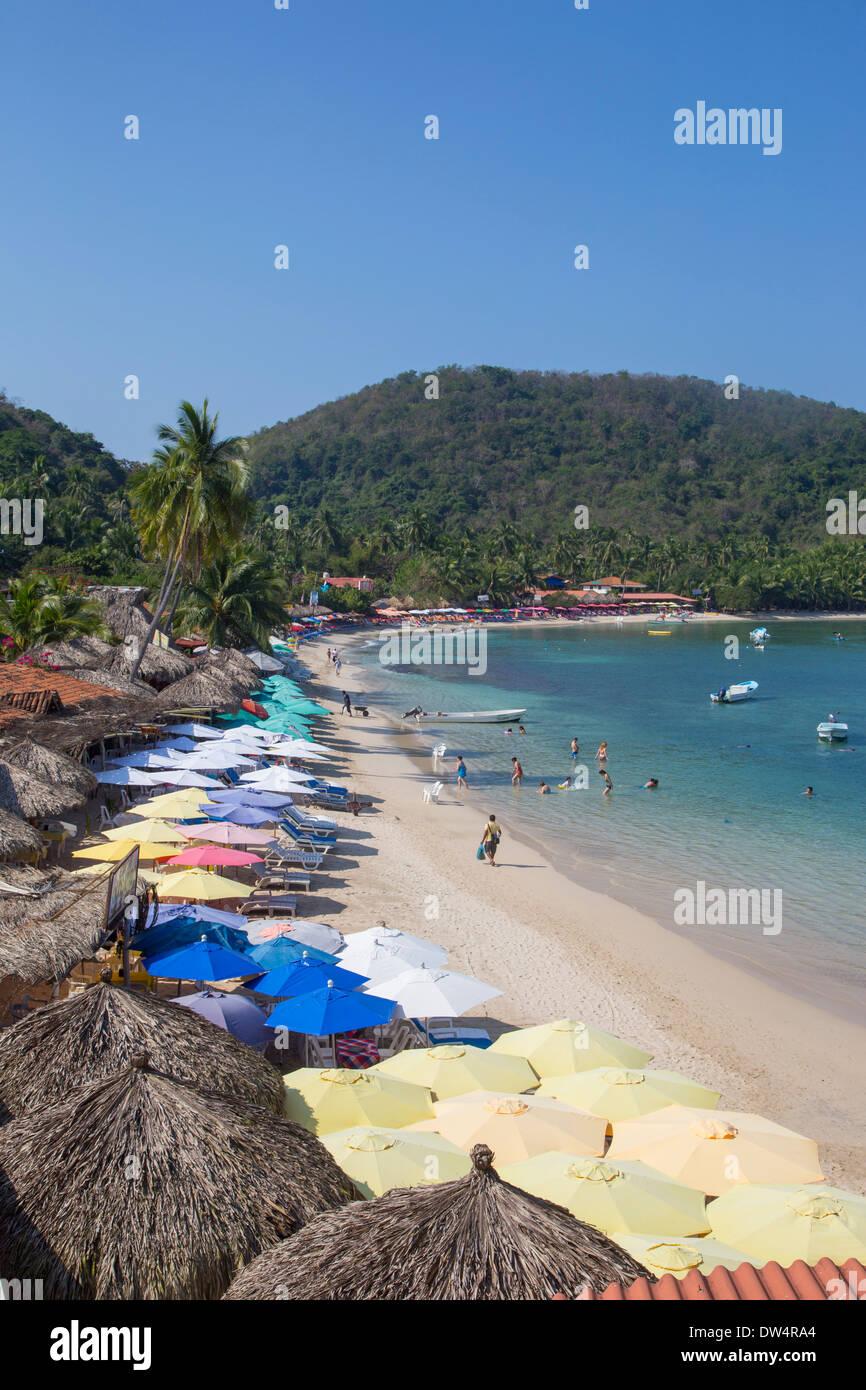 Playa Las Gatas Zihuatanejo Guerrero Mexico Stock