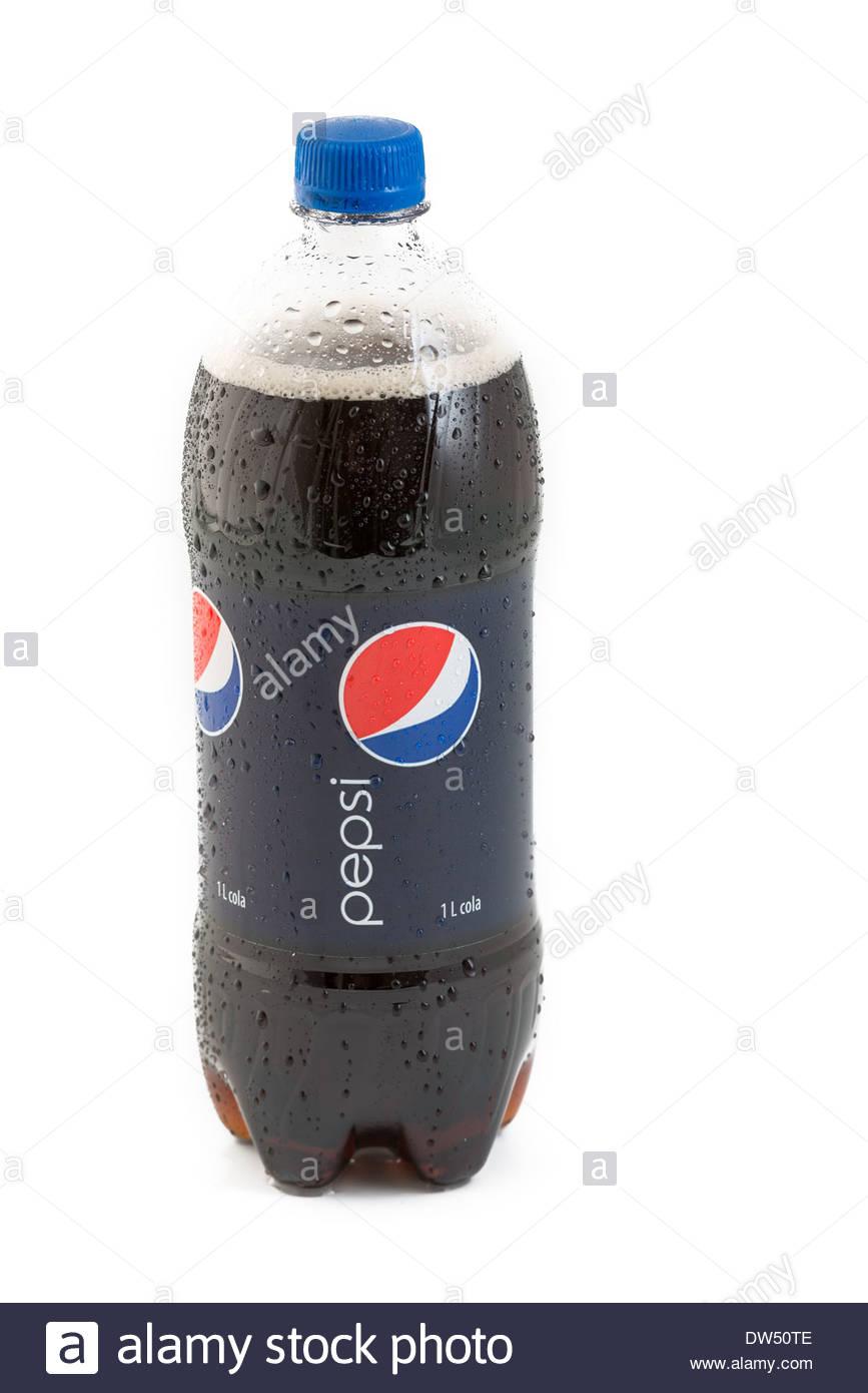 1000 ml bottle of Pepsi Cola. Plastic bottle of Pepsi Cola ...