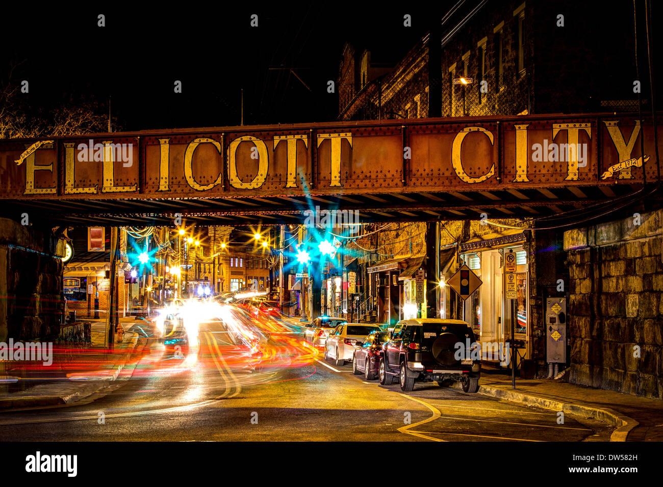 Traffic On Ellicott City Main Street Stock Photo Royalty