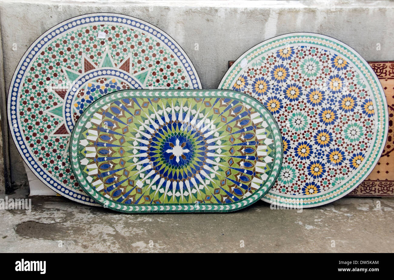MOROCCO;NR. FEZ; ART NAGHILE TILE AND POTTERY WORKSHOP. MOSAIC ...