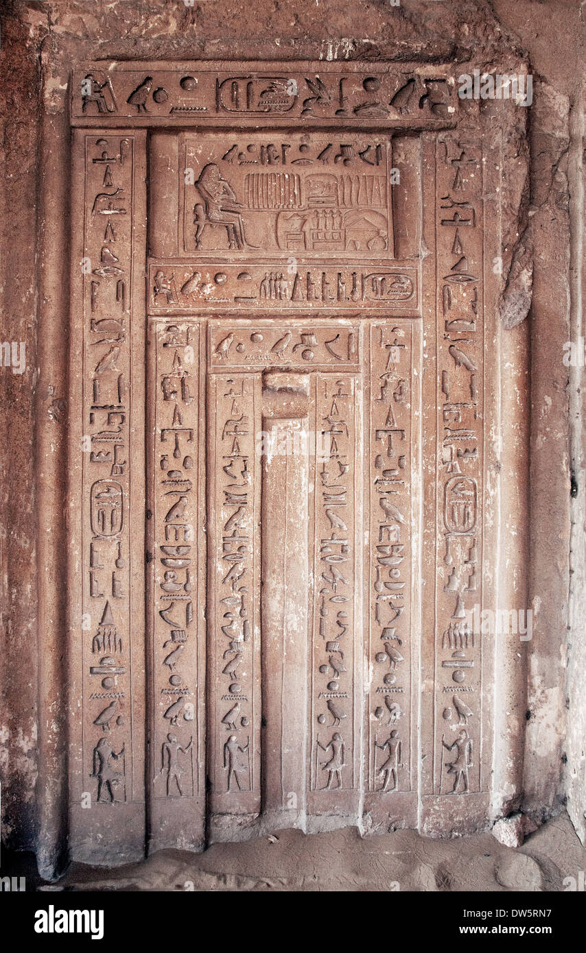 Stock Photo   The False Door Of The Unas Mastaba In Sakkara Area