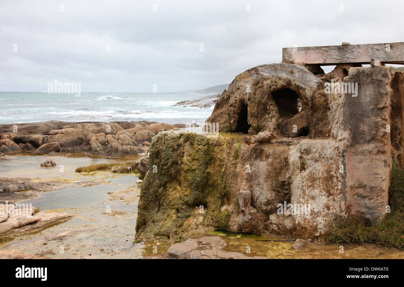 Calcified water wheel Cape Leeuwin Stock Photo, Royalty Free Image ...