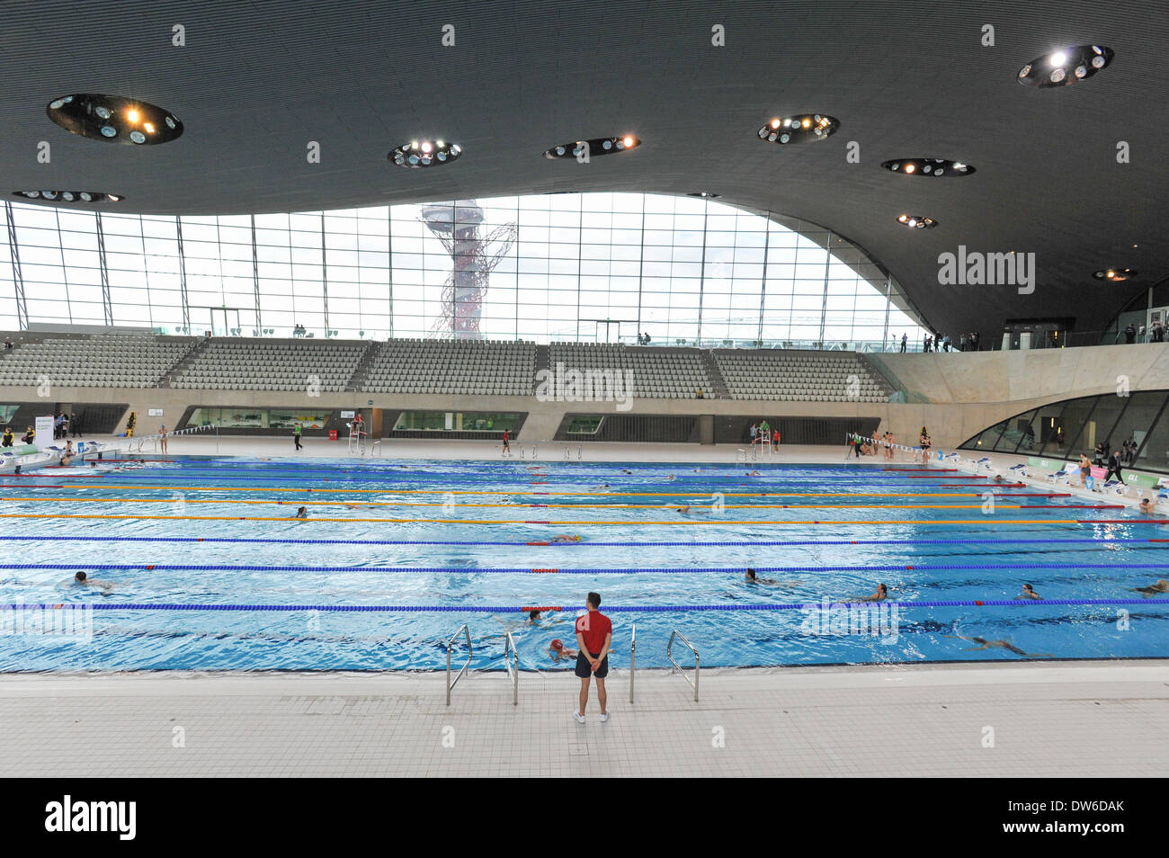 queen elizabeth olympic park stratford london uk 1st march 2014 the olympic pool in the aquatic centre at the queen elizabeth olympic park in stratford - Olympic Swimming Pool 2014