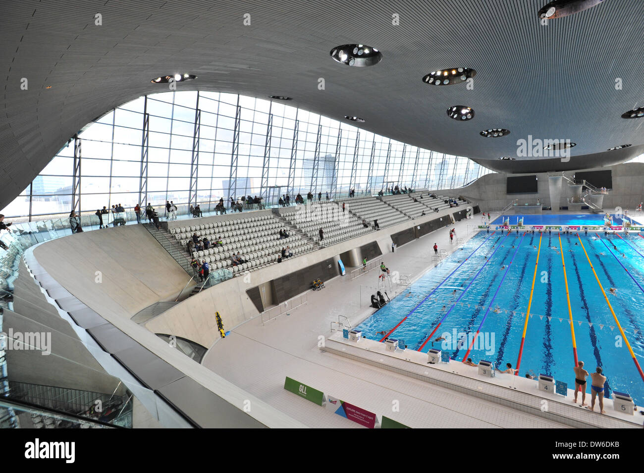 Beau Queen Elizabeth Olympic Park, Stratford, London, UK. 1st March 2014. The Olympic  Pool In The Aquatic Centre At The Queen Elizabeth Olympic Park In Stratford  ...