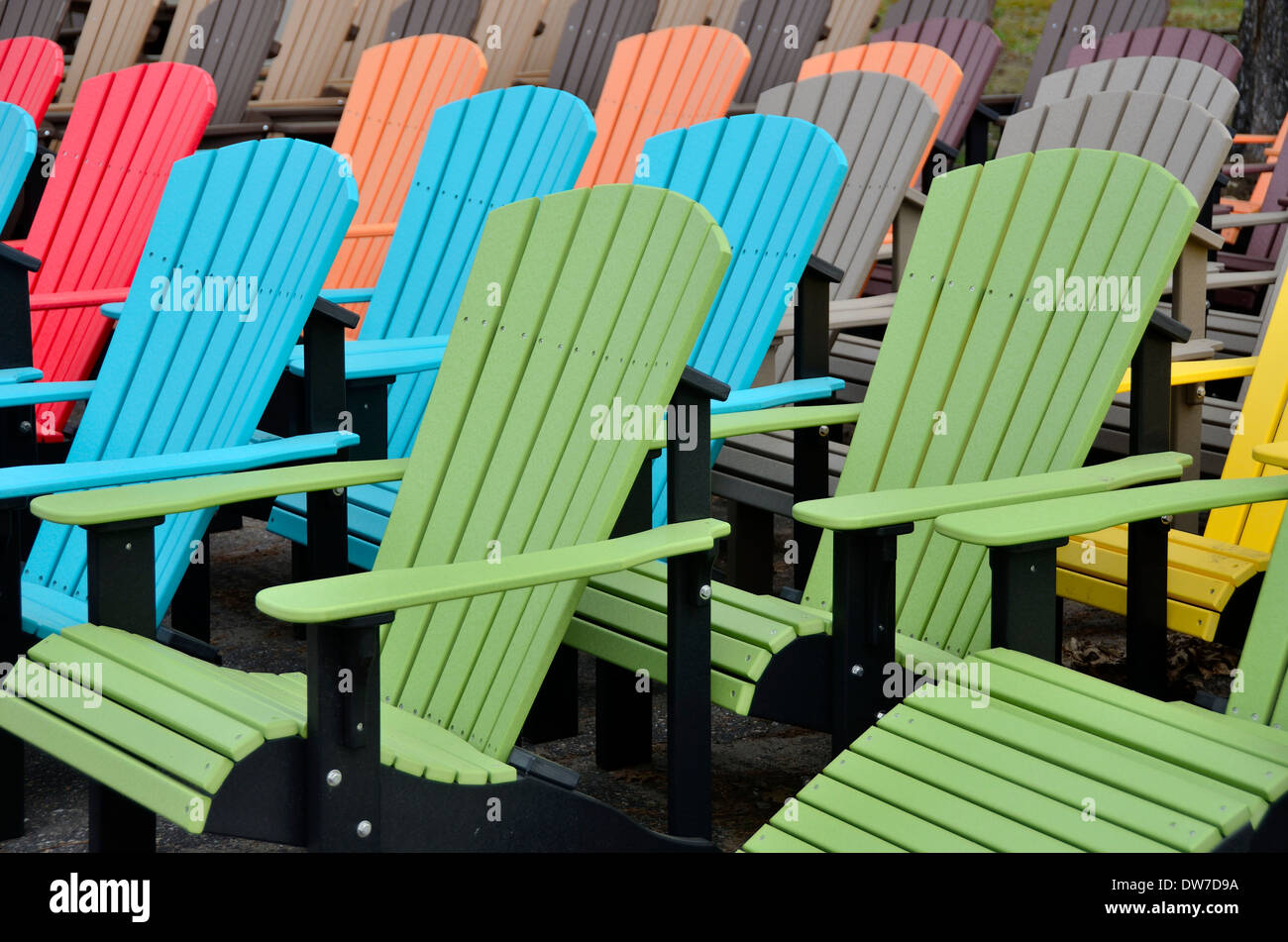 Colorful adirondack chairs - Colorful Wooden Adirondack Chairs