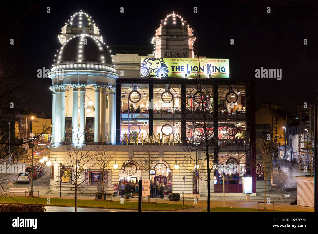 night view of alhambra theatre bradford west yorkshire. Black Bedroom Furniture Sets. Home Design Ideas