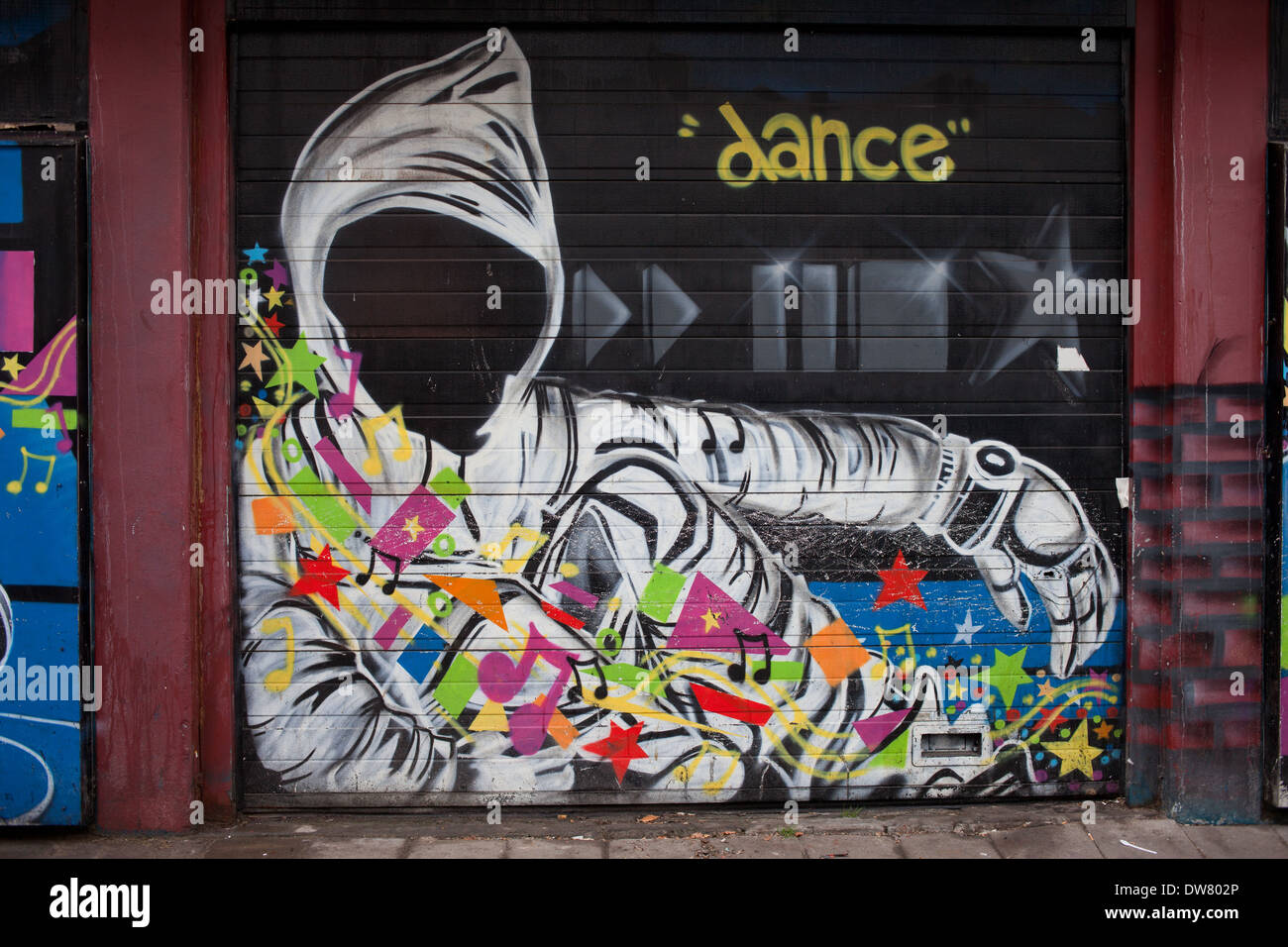 Mysterious Hooded Person With Dance And Music Theme