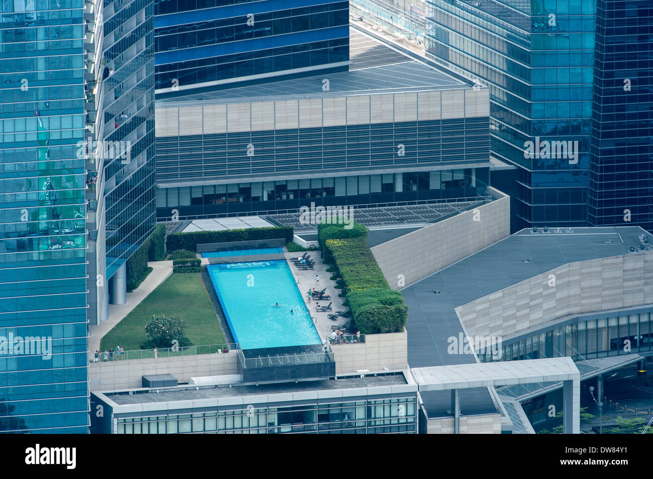 Swimming Pool On The Roof Of A Building In Singapore Stock Photo Royalty Free Image 67177013