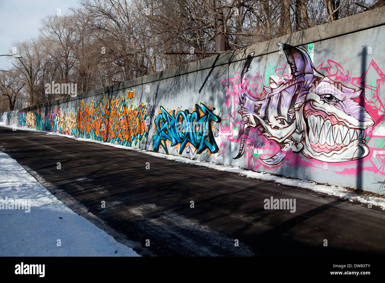 Graffiti wall usa - Graffiti On Wall Detroit Michigan Usa