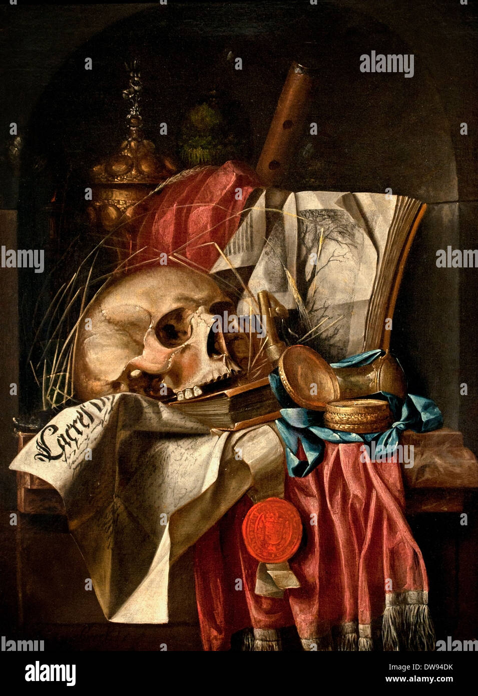 Vanity still life 1665 1670 simon renard de saint andr paris stock photo 67198591 alamy - Vanite simon renard de saint andre ...