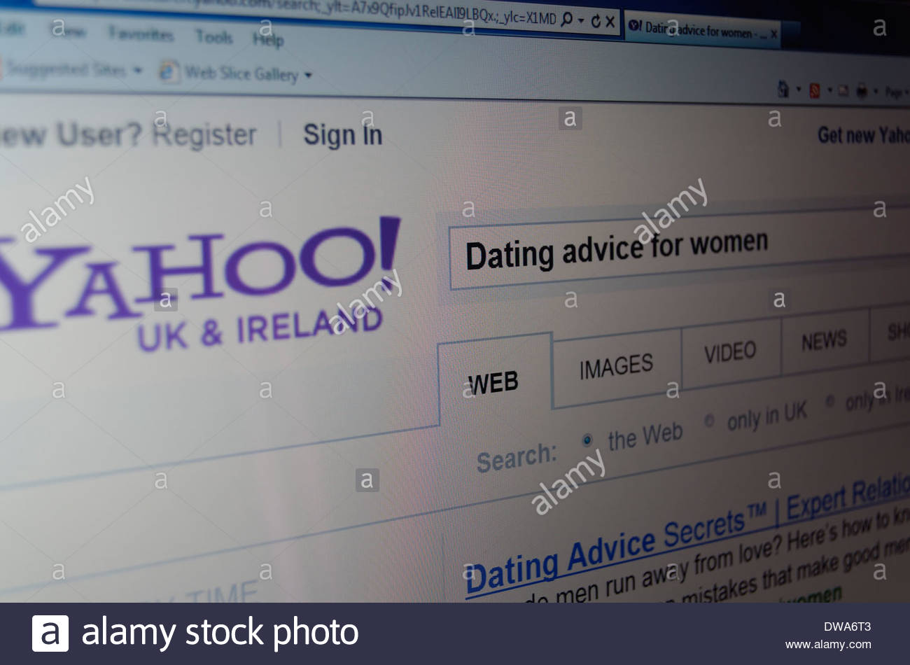 Dating search engine