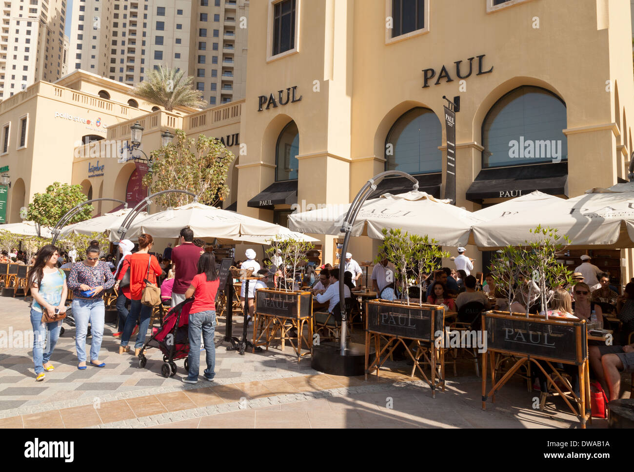 Paul Restaurant Exterior The Walk Jumeirah Beach Residences Jbr Dubai Uae United Arab Emirates Middle East