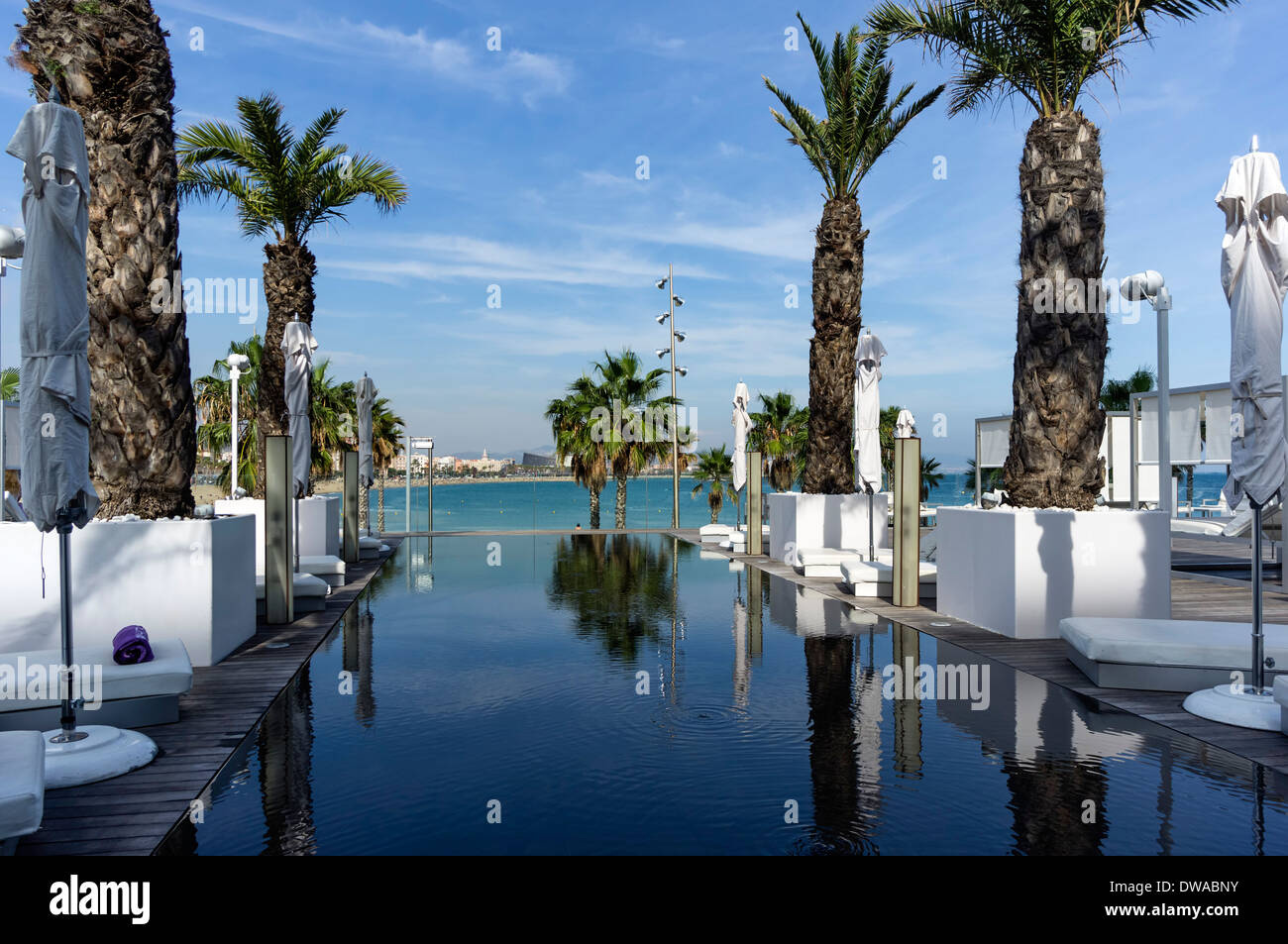Pool Of Five Star W Hotel In Barcelona Spain Stock Photo Royalty Free Image 67226263 Alamy