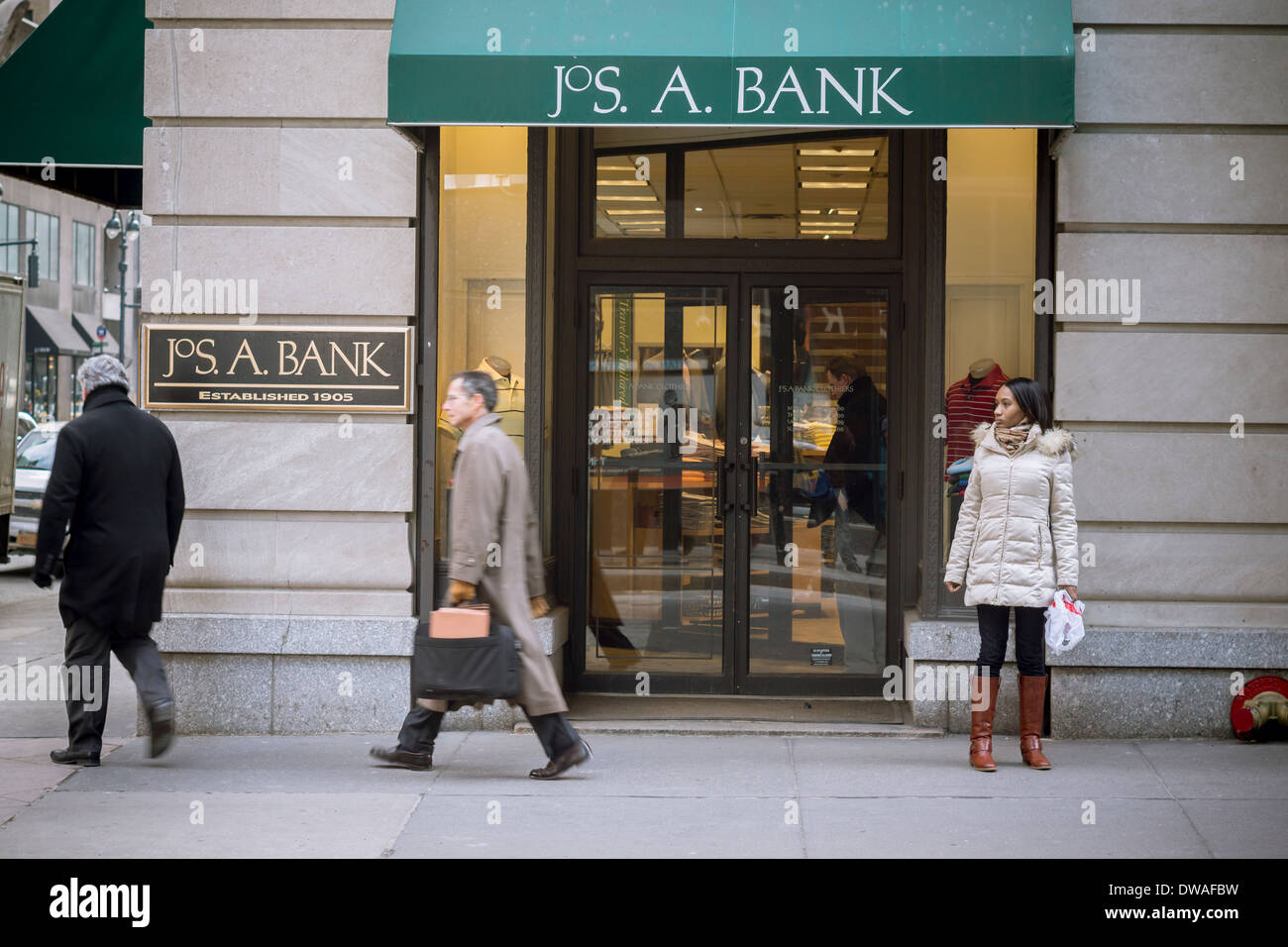 Jos. A. Bank Clothiers is located in New York, New York. This organization primarily operates in the Suits, Men's business / industry within the Apparel and Accessory Stores sector. Jos. A. Bank Clothiers employs approximately 27 people at this branch location.