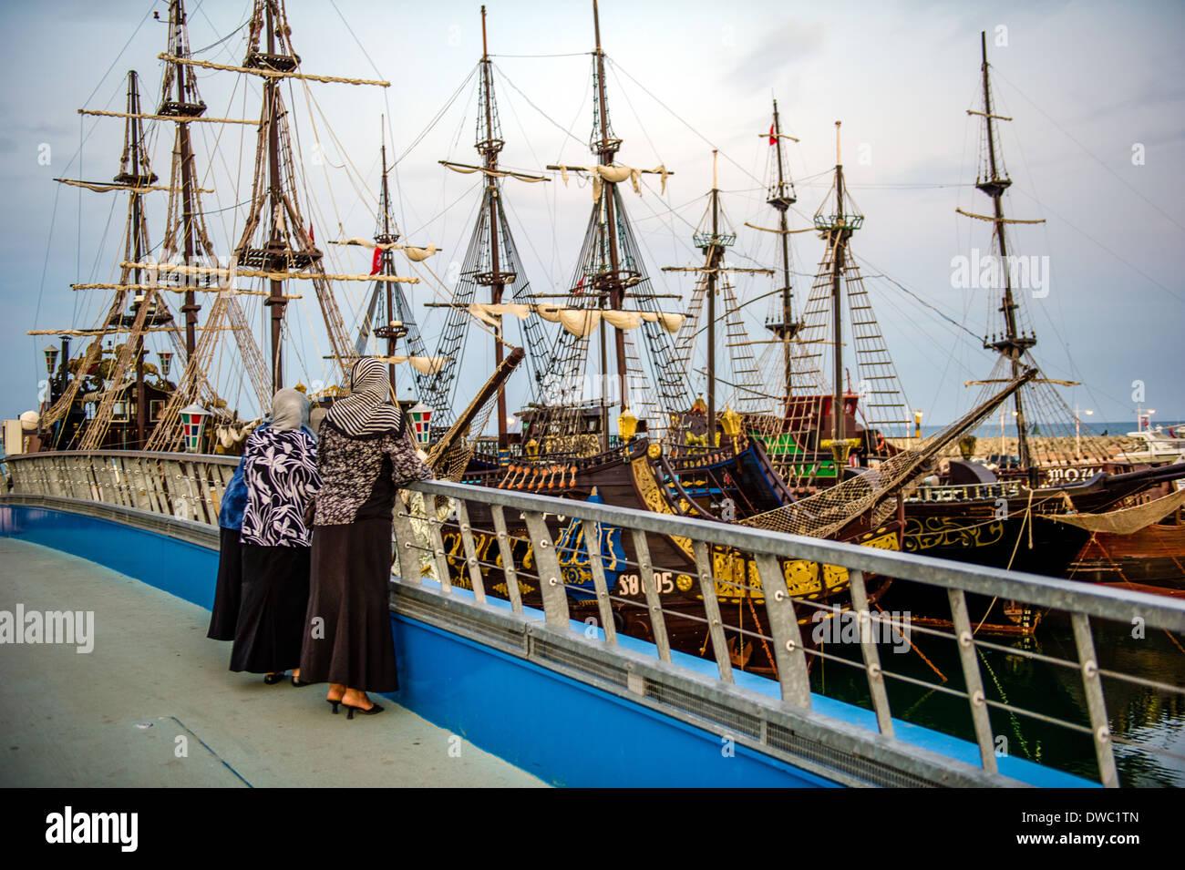 north africa tunisia cape bon hammamet pirate ship for