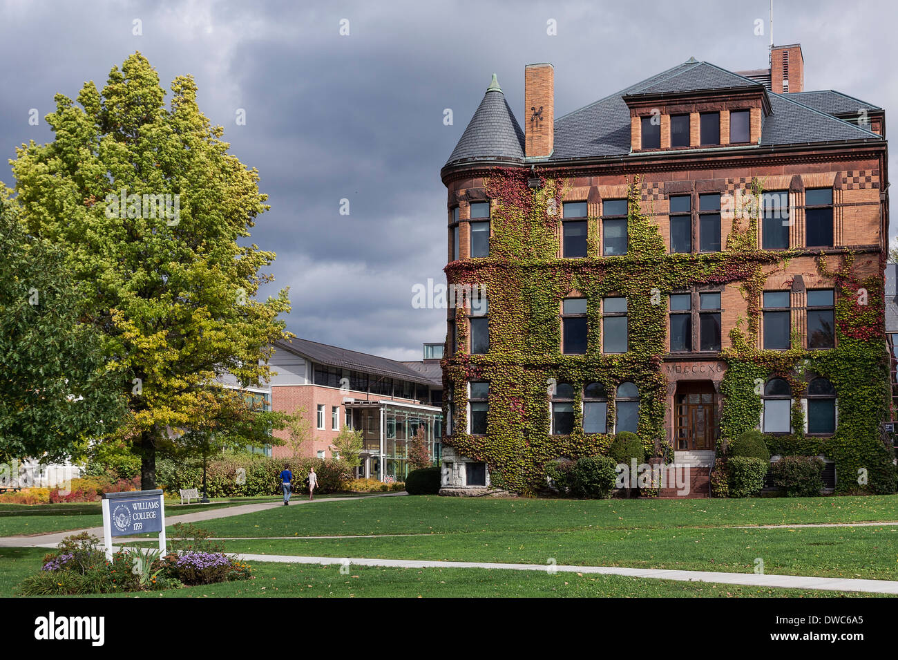 Williams College campus, Williamstown, Massachusetts, USA ...