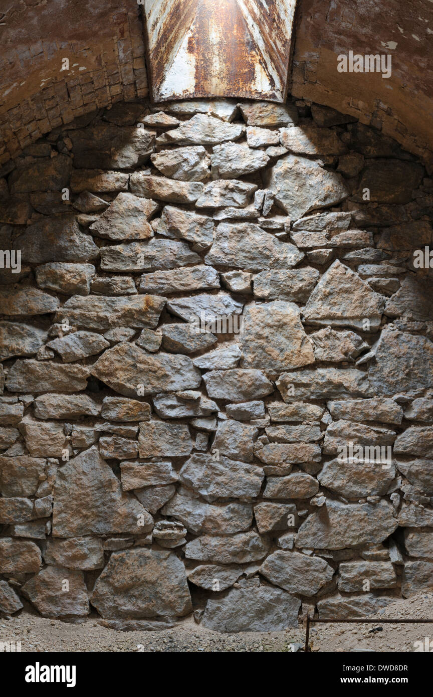Rock Wall Background Of Natural Stone With Overhead