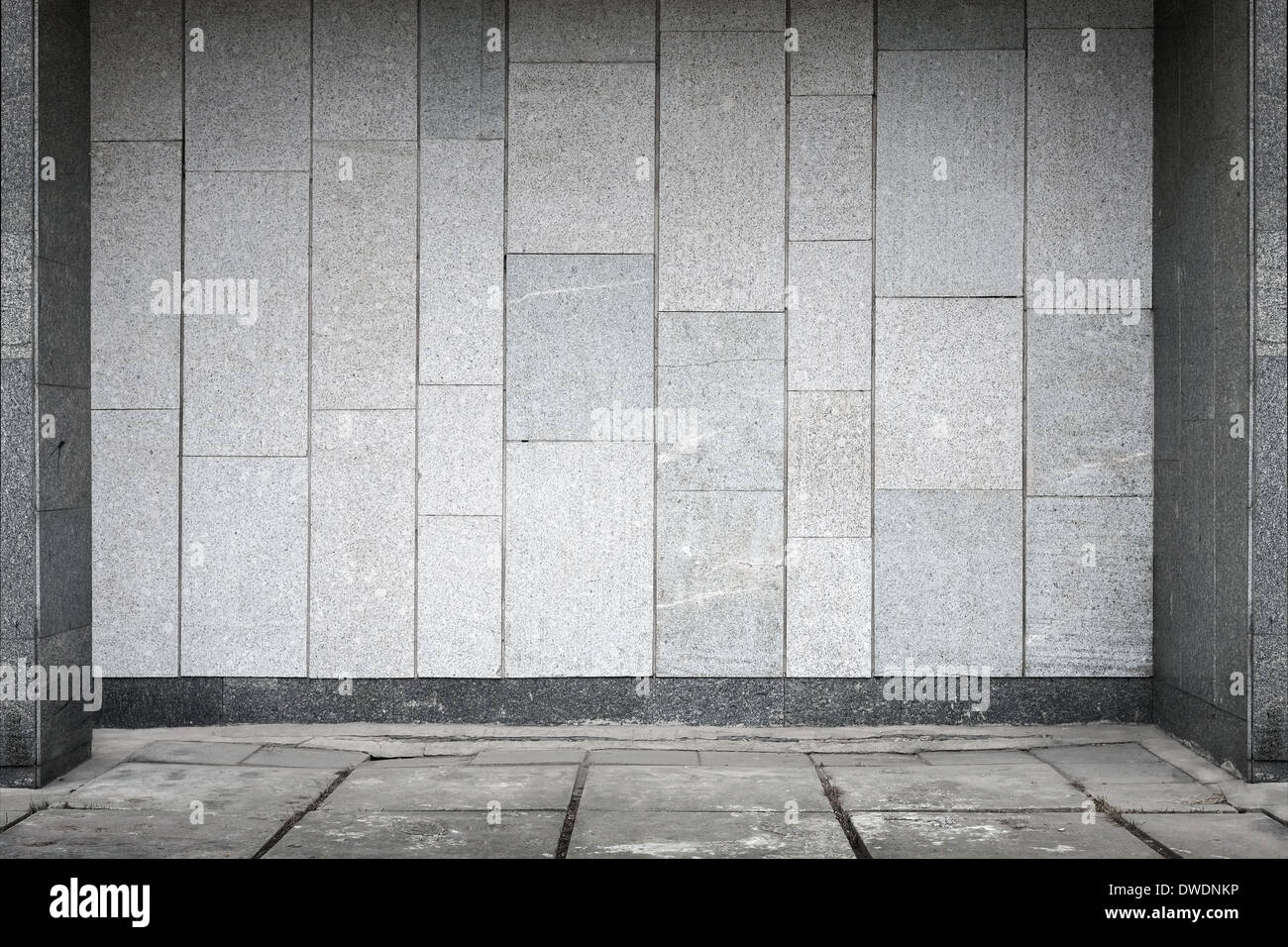 Empty urban interior with stone tiling on wall and concrete floor empty urban interior with stone tiling on wall and concrete floor pavement dailygadgetfo Image collections