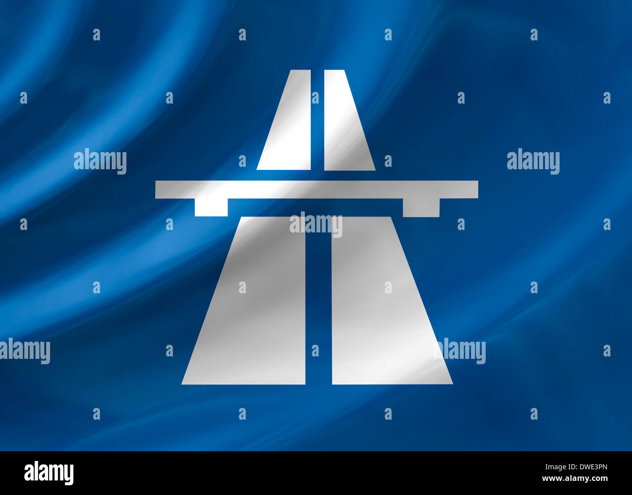 Stock Photo - highway Autobahn sign icon symbol logo emblemAutobahn Sign