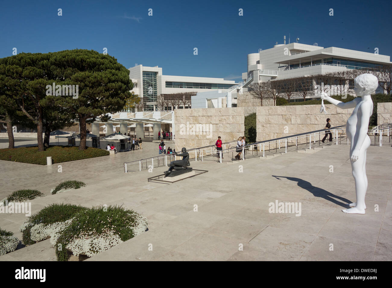statue and architecture at the getty art museum in brentwood los stock photo royalty free. Black Bedroom Furniture Sets. Home Design Ideas