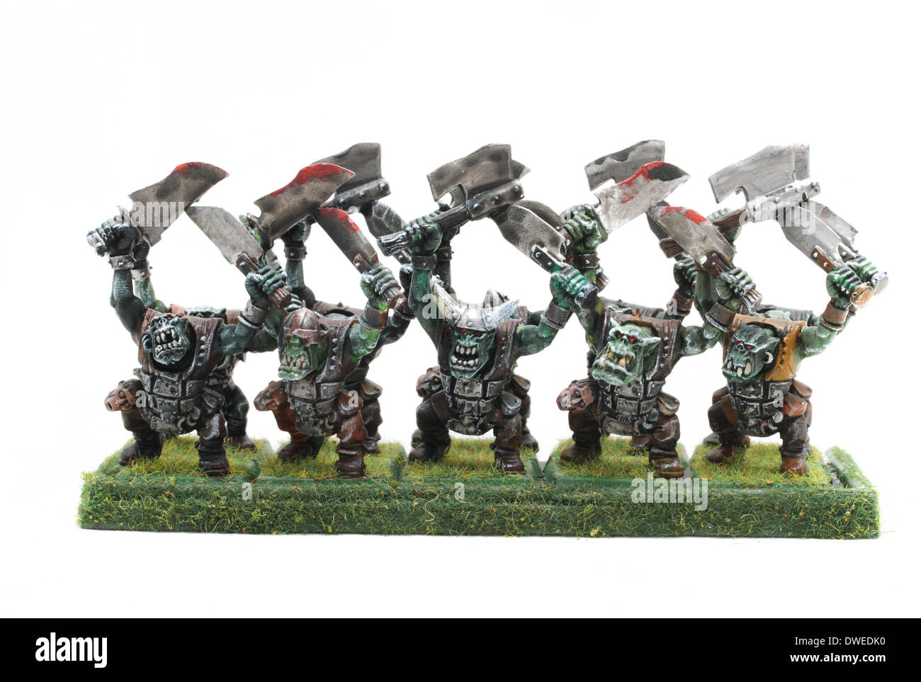 Warhammer Orcs And Goblins Ten Orc Boyz With Two Hand