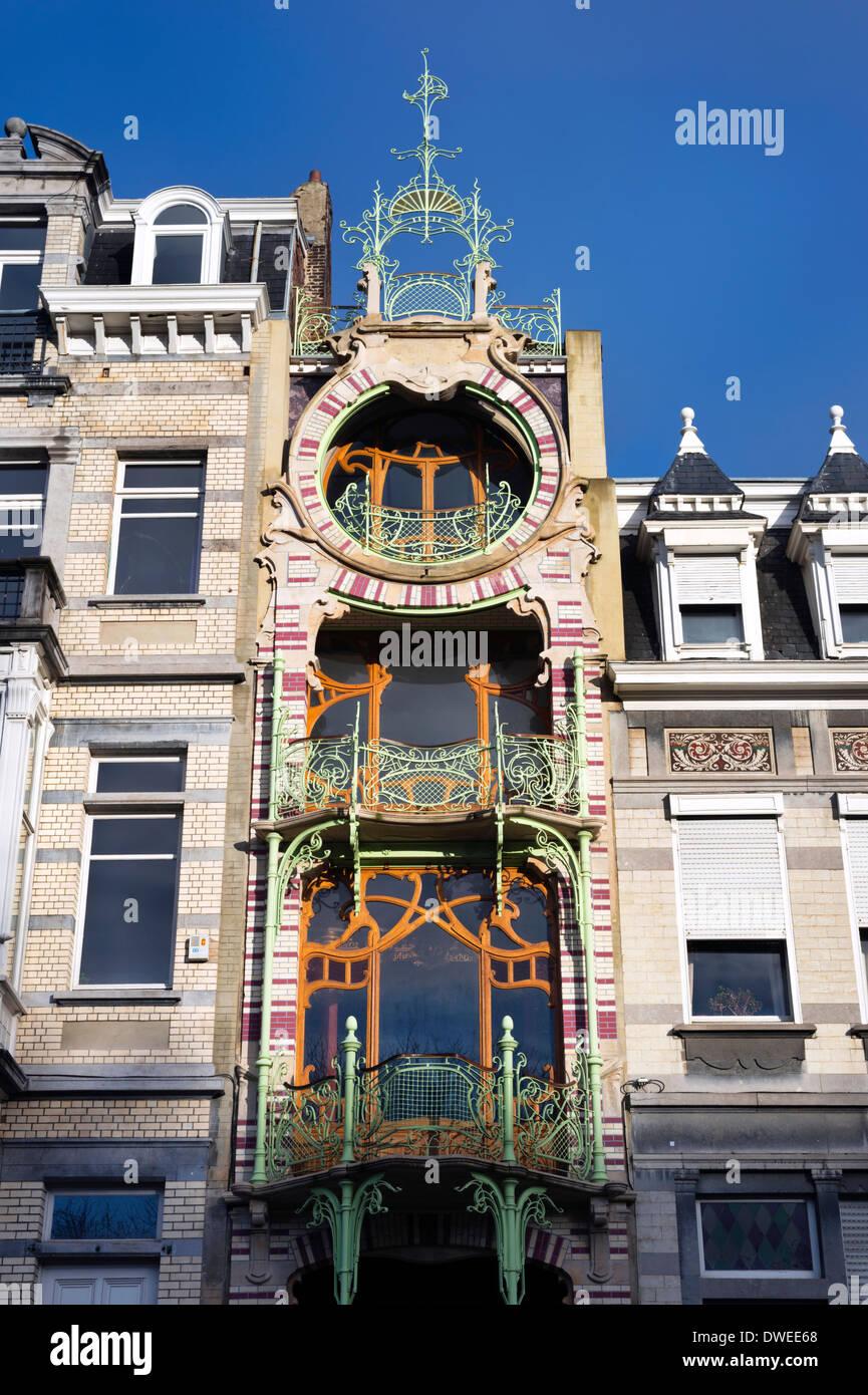 Art Nouveau Style Saint Cyr House Square Ambiorix Brussels Stock Photo Royalty Free Image